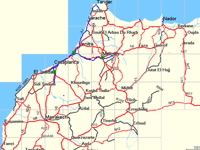 GPS Vector Map Morocco